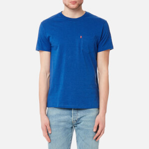 Levi's Men's Short Sleeve Set-In Sunset Pocket Shirt - True Blue Heather