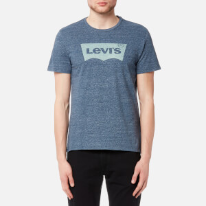 Levi's Men's Housemark Graphic T-Shirt - Ssnl Color Hm Dress Blues Tri Blend