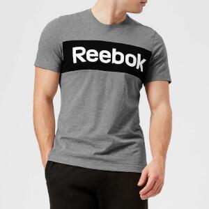 Reebok Men's Brand Graphic Short Sleeve T-Shirt - Medium Grey Heather
