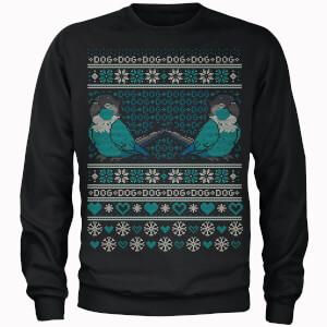 Jaiden Dog Christmas Black Sweater