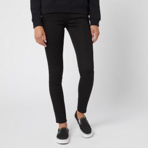 Calvin Klein Women's Mid Rise Skinny Jeans - Pop Black