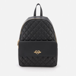 Love Moschino Women's Quilted Logo Backpack - Black