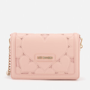Love Moschino Women's Small Heart Embossed Cross Body Bag - Pink