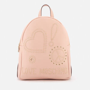 Love Moschino Women's Studded Logo Backpack - Pink