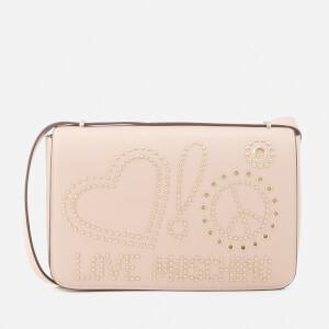 Love Moschino Women's Studded Logo Cross Body Bag - Pink