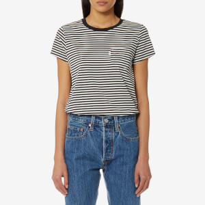 Levi's Women's The Perfect Pocket T-Shirt - Gina Obsidian/Cloud Dancer