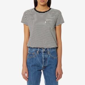 Levi's Women's The Perfect Pocket T-Shirt - Gina Obsidian/Cloud Dancer