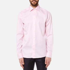 Eton Men's Slim Fit Cut Away Collar Single Cuff Shirt - Pink/Red
