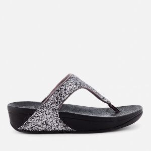 FitFlop Women's Glitterball Toe Post Sandals - Pewter