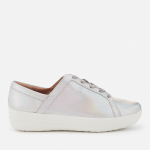 FitFlop Women's F-Sporty II Lace Up Trainers - Silver Iridescent