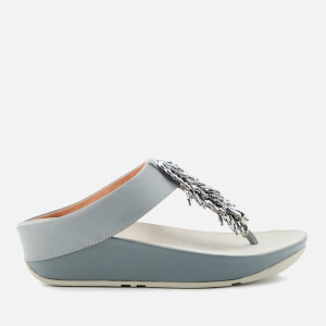 FitFlop Women's Rumba Crystal Toe Post Sandals - Dove Blue