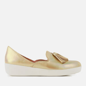 FitFlop Women's Tassel Superskate D'Orsay Loafers - Gold Iridescent