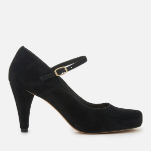 Clarks Women's Dalia Lily Suede Mary Jane Heels - Black