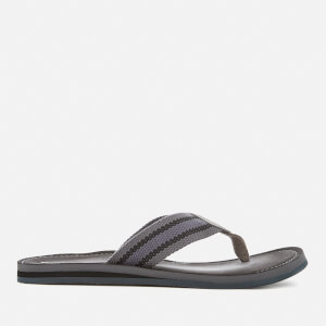 Clarks Men's Lacono Sun Flip Flops - Grey/Black