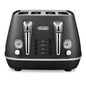 De'Longhi CTI4003.BK Distinta 4 Slice Toaster - Black Finish