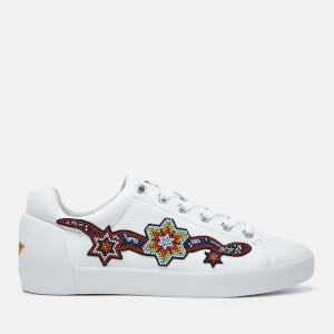 Ash Women's Namaste Tumble Leather Low Top Trainers - White