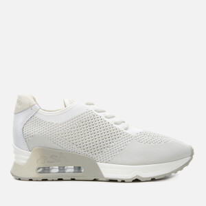 Ash Women's Lucky Knitted Runner Trainers - White/Marble