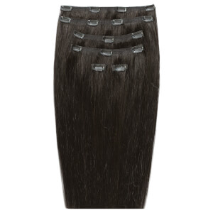 Beauty Works 45 cm Double Hair Set Clip-In Extensions - Raven 2