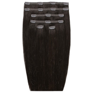 "Beauty Works 18"" Double Hair Set Clip-In Extensions - Ebony 1B"