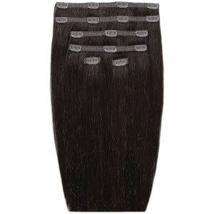 "Beauty Works 18"" Double Hair Set Clip-In Extensions – Ebony 1B"