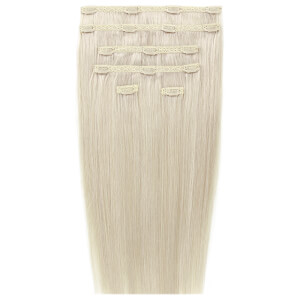 "Extensions Capillaires à Clipser 18"" Double Hair Set Clip-In Extensions – Pure Platinum 60a"