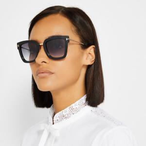 Tom Ford Women's Lara Square Frame Sunglasses - Black/Gradient Smoke: Image 4