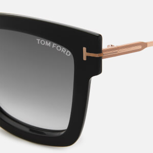 Tom Ford Women's Lara Square Frame Sunglasses - Black/Gradient Smoke: Image 3