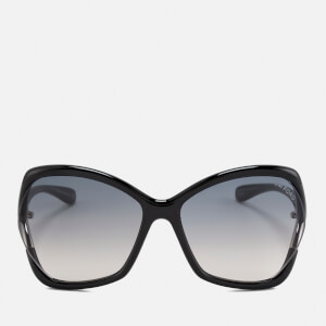 Tom Ford Women's Astrid Oversized Sunglasses - Black/Gradient Smoke
