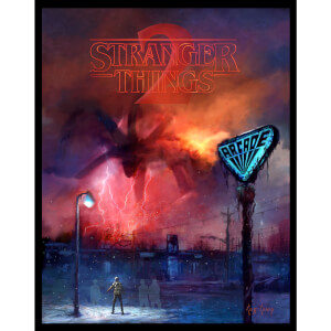 Stranger Things 2 - Glow in the Dark Fine Art Print by Cliff Cramp (18 x 22.75 Inch) Zavvi UK Exclusive - Limited Edition of 250