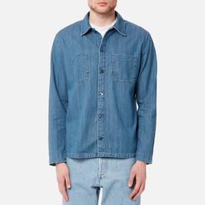 A.P.C. Men's Surchemise Disfarmer Shirt - Bleu