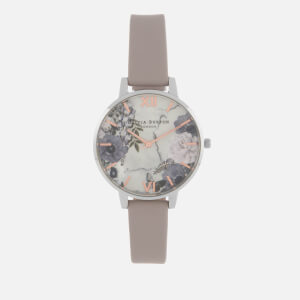 Olivia Burton Women's Marble Florals Watch - Grey Lilac, Silver & Rose Gold