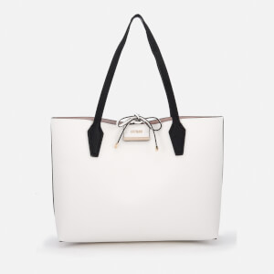 Guess Women's Bobbi Inside Out Tote Bag - White Multi/Taupe