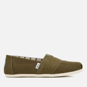 TOMS Men's Alpargata Canvas Slip-On Pumps - Military Olive