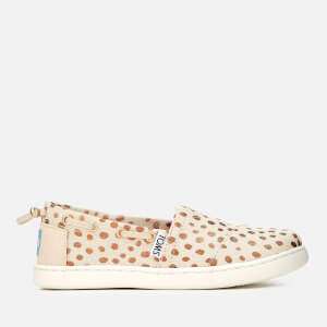 TOMS Kids' Biminis Slip-On Pumps - Rose Gold Dots