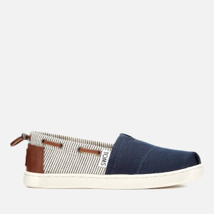 TOMS Kids' Biminis Canvas Slip-On Pumps - Navy/Stripes