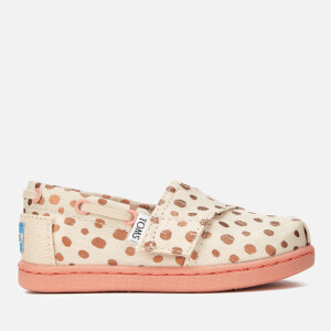acbb1dfac4f410 TOMS Toddlers  Bimini Slip-On Pumps - Rose Gold Dots