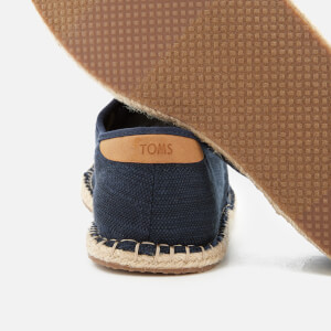 TOMS Men's Diego Canvas Lace Up Espadrilles - Navy: Image 4
