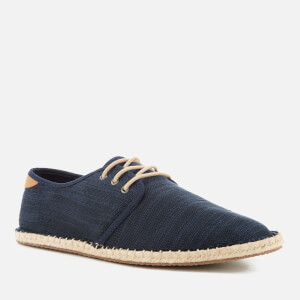 TOMS Men's Diego Canvas Lace Up Espadrilles - Navy: Image 2