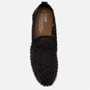 TOMS Women's Deconstructed Alpargata Rope Espadrilles - Black Lace Leaves: Image 3