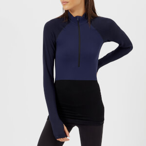 FALKE Ergonomic Sport System Women's 1/2 Zip Long Sleeve Top - Dark Night