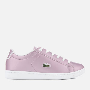 Lacoste Kids' Carnaby Evo 218 1 Cupsole Trainers - Light Purple/White