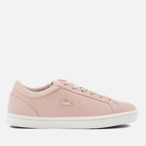 Lacoste Women's Straightset 118 2 Leather Cupsole Trainers - Pink