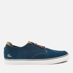 Lacoste Men's Esparre Deck 118 1 Suede Boat Shoes - Navy/Light Brown