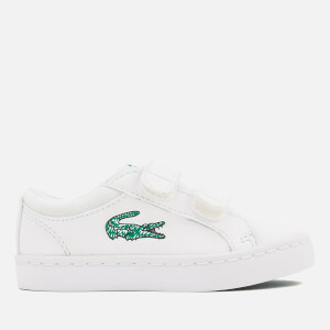 Lacoste Toddlers' Straightset Lace 118 1 Canvas Trainers - White