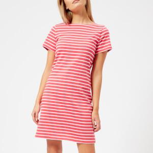 Joules Women's Riviera Short Sleeve Jersey Dress - Red Sky Stripe