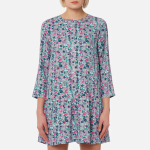 Joules Women's Bette Drop Waist Woven Tunic - Grey Garden Ditsy