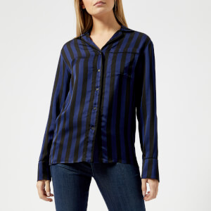 KENZO Women's Medium Stripes Pyjama Top - Black