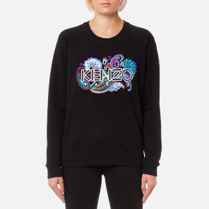 KENZO Women's Light Cotton Molleton Sweatshirt - Black