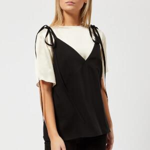 KENZO Women's Soft Crepe T-Shirt Cami Top - Black