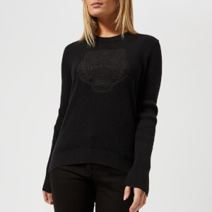 KENZO Women's Embossed Tiger Textured Knitted Jumper - Black